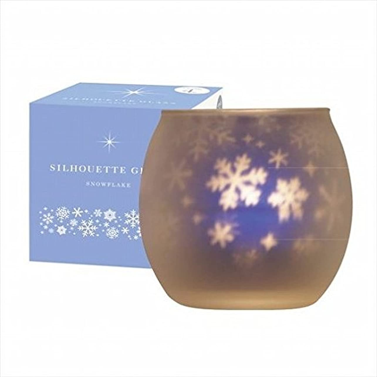 死んでいる公平な寸前kameyama candle(カメヤマキャンドル) スノーフレークシルエットグラス【キャンドル4個付き】(J1001022)