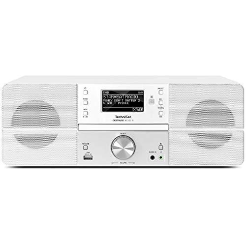 TechniSat DIGITRADIO 361 CD IR - DAB+/Internetradio (WLAN, LAN, DAB, UKW, CD-Player, Bluetooth, Radiowecker, WiFi Streamingfunktion, AUX-In, Stereo, 2 x 5 Watt Lautsprecher, Fernbedienung) weiß