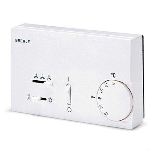 EBERLE; KLR-E 7015 (meer klikopties: hier), bimetalen thermostaat, werkt via ventilator.