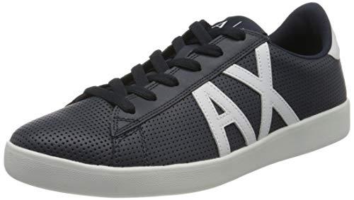 Armani Exchange Męskie sneakersy, niebieski - Niebieski Navy Opt White A138-39 eu