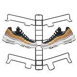 mDesign Organizador de zapatos – Zapatero de pared ajustable para tres pares de zapatillas, calzado deportivo, etc. – Una alternativa al mueble zapatero que ahorra espacio – gris