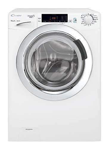 Candy GVS 1410TWC3/1-S Waschmaschine Frontlader 10Kgs, 1400rpm, NFC, Dampffunktion, verchromt, MPS+, Klasse A+++, weiß