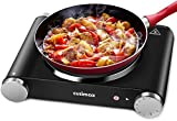 Cusimax Electric Hot Plate - Cast-Iron Single Burner - Portable Cooker Cooktop