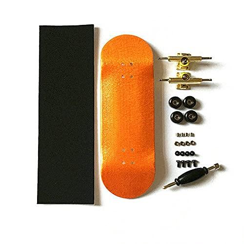 LIBAISI Monopatín de los Dedos 8 Color Skate Toys Tipo Profesional Rodamientos Ruedas Skid Pad Mapate Madera Monopatín Pieza de patinetas ( Color : C Set )