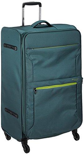 [ヒデオワカマツ] スーツケース ソフト フライエア 超軽量 無料預入 拡張時88L 85-95860 80L 77 cm 3.1kg グレーグリーン