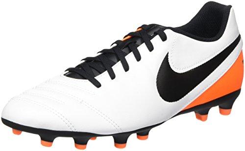 Nike Herren Tiempo Rio III FG Laufschuhe, Weiß (White/Black-Total Orange), 42.5 EU