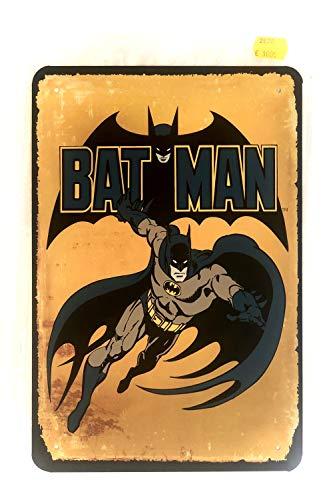 DiiliHiiri Cartel de Chapa Vintage Decoración, Letrero A4 Estilo Antiguo de metálico Retro. (Batman)