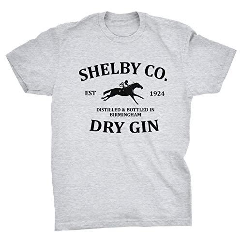 Shelby Co Dry Gin Birmingham T-Shirt (Grey, XXXL)