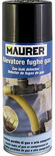 SPRAY RIVELATORE FUGHE e PERDITE di GAS MAURER 400 gr RILEVATORE RILEVA METANO 96091