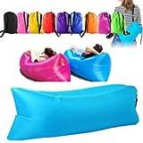 B-black® Air Bag Bett aufblasbar Hangout Air Schlafsack Kompressions Sofa Stuhl Matte Strand Meer...