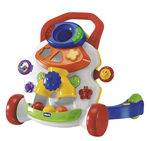 Chicco Primeros Pasos Musicales, Colorido Andador Bebé Primeros Pasos 2en1 con Centro de Actividades Electrónico y Sensor de Movimiento, Juguete Educativo con Luces y Sonido– Juguetes Bebé 9-24 Meses