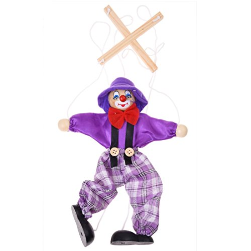 SODIAL(R) 1pc Marionnette a Fils Clown Jouet pour Enfant - Couleur Aleatoire