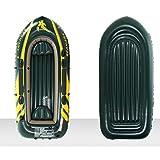 LK-HOME Kayak, 2 Personas, 3 Personas, 4 Personas Combinación De Kayak Inflable, Grueso Y Resistente Al Desgaste, Plástico De 0,75 Mm De Espesor, 351 × 145 Cm, Carga De 400 Kg,2 People