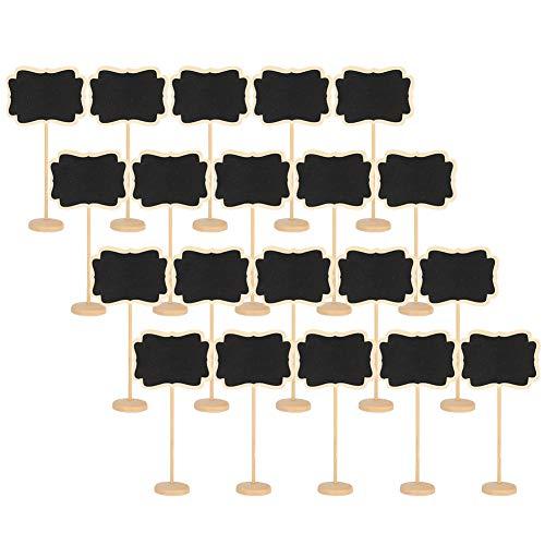 Zhjvihx Pizarra pequeña, Pizarra de Tiza Mini letreros de Pizarra 20 Piezas de Etiquetas para pizarras Colgantes duraderas para Oficina para Boda para el hogar para el jardín
