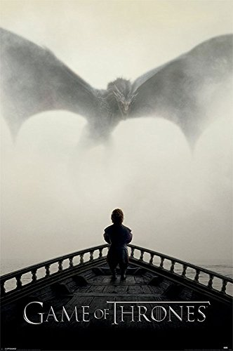 Game of Thrones - A Lion & A Dragon - Fantasy TV Serie Poster Plakat Druck - Größe 61x91,5 cm