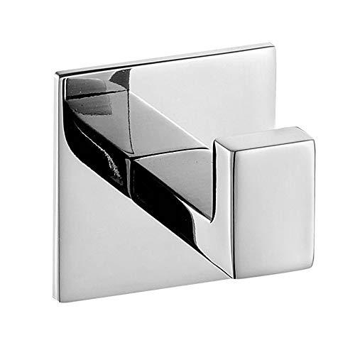 Celbon Handtuchhaken ohne Bohren Kleiderhaken Selbstklebend Bademantelhaken 304 SUS Edelstahl für Bad (Chrom)