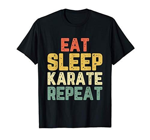 Eat Sleep Karate Repeat Vintage T-Shirt