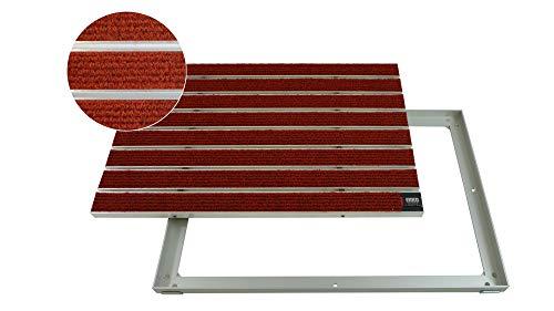 EMCO Entreemat DIPLOMAT Large Rips rood 22 mm aluminium frame deurmat deurmat deurmat antislipmat 600 x 400 mm