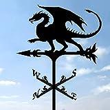 Banderuola A Forma di Drago, Banderuola in Metallo da Tetto Banderuola in Ferro Arte Banderuola Decorazioni per Esterni Scena della Fattoria Banderuola,Metallic