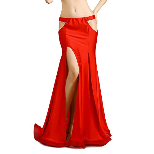 ROYAL SMEELA Slim Sexy Gonna di Danza del Ventre Fessura Svuotare Gonne da Ballo Costume di Danza del Ventre Attrezzatura Abbigliamento da Donna Maxi Gonna a Sirena Abiti