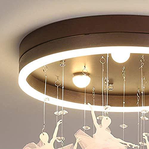 Equipo para el hogar Sala de estar Dormitorio Luces de techo Nordic Romántico Ballet Chica Lámpara de techo Luz regulable LED Dormitorio Estudio Sala de estar Decoración Lámpara de atenuación de tr