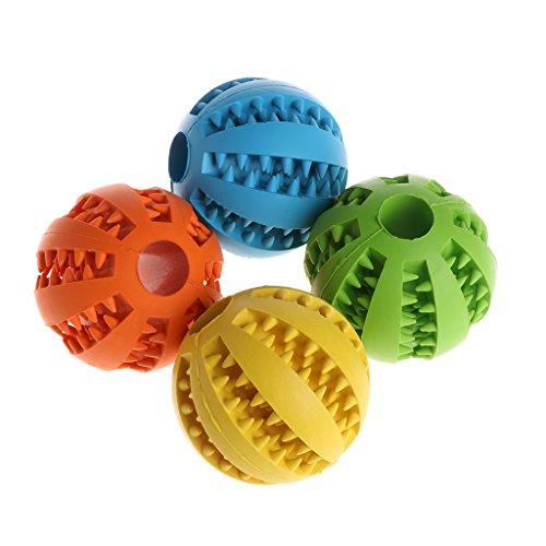 ECMQS 7cm/2.76zoll Hund Spielzeug Interaktive Gummibälle, Haustier Hund Katze Welpen Kauen spielzeug Ball, Zähne Kauen Spielzeug Zahnreinigung Bälle (Grün)