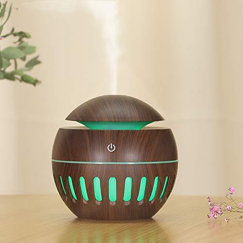Lixada USB Luftbefeuchter, Ultra Leise Raumluftbefeuchter, Mini Ultraschall Air Humidifier für das Schlafzimmer&Kinderzimmer, Tragbarer Luftbefeuchter mit 7 Farben für Haus Yoga Büro, 130 ML