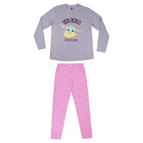 Cerdá 2200006718_T2S-C53 Juego de Pijama, Multicolor, S para Mujer