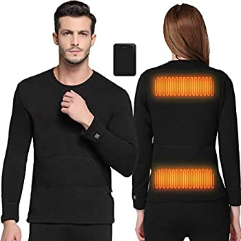 FERNIDA Heated Underwear Electric Insulated Thermal Heating T Shirts  Battery Included   XL Shirt