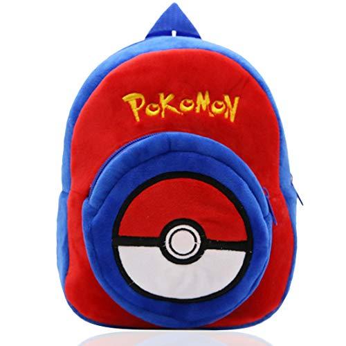 Pokemon Rucksack Kinder - YUESEN 3D-Kinder-Rucksack mit Pikachu Blau Kindergartenrucksack, Cartoon Tier-Rucksäcke Schultasche Blau Pikachu Geschenke für Kinder Ideal für Schule Reisen