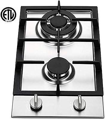 Ramblewood GC2-37N (Natural Gas) high efficiency 2 burner gas cooktop