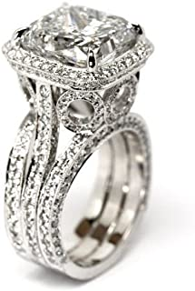 pictures of princess cut engagement rings
