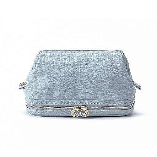 make up bag Sac Cosmétiques PU Washbag Sac Rangement étanche Trousses de Toilette Blue