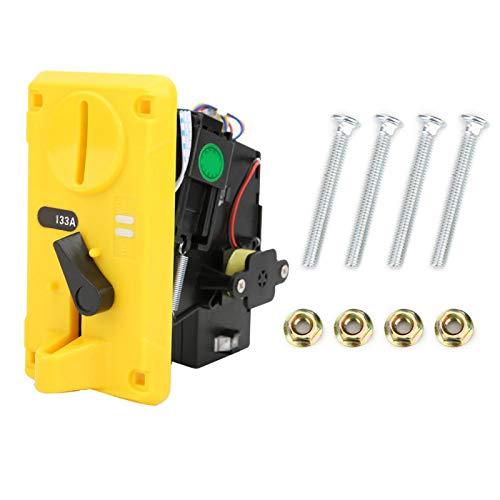 Okuyonic Plateado, Amarillo, DC + 12V ± 10%, Aceptador de Monedas, Interferencia Anti-electromagnética, -15 ℃ ~ + 15 ℃, para máquinas expendedoras de cepillos de Dientes(Yellow)
