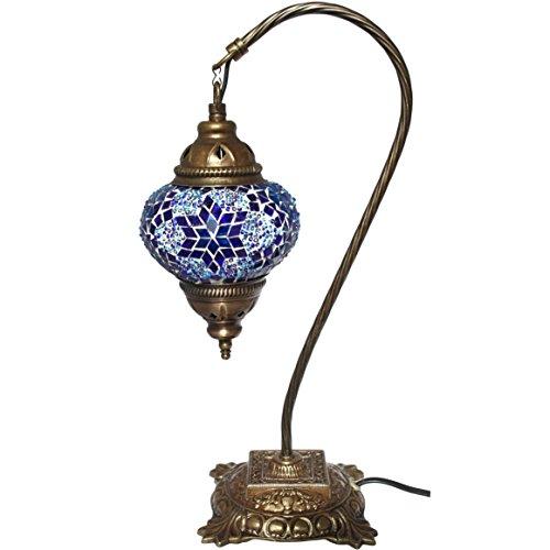Mosaik Beistelltisch Lampe, Lampen, Blau Glas, marokkanischer Laternen, Türkisch Lampe, Beleuchtung