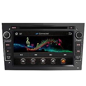 AWESAFE Radio Coche 7 Pulgadas con Pantalla Táctil 2 DIN para Opel, Opel Autoradio con Bluetooth/GPS/FM/RDS/CD DVD/USB/SD, Apoyo Mandos Volante, Mirrorlink y Aparcacimiento (Negra)