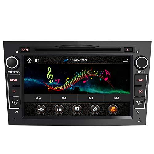AWESAFE 2-DIN Autoradio mit Navi für Opel, 7 Zoll Touchscreen Radio unterstützt Lenkrad Bedienung USB SD RDS Bluetooth - Schwarz