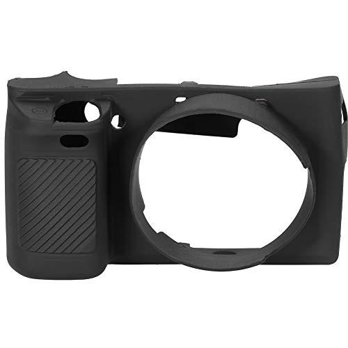 Mugast Cubierta de la Caja de la Cámara Cubierta Protectora de Silicona Suave para Cámara Sony A6000 para Proteger la Cámara.(Negro)