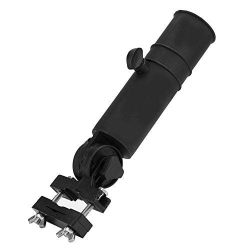 Golf Trolley Umbrella Holder Paraguas Ajustable Soporte para manijas de Carrito de Golf, Negro