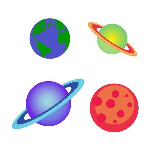 Planètes stickers muraux par Stickerscape - Autocollants (Ensemble d'autocollant grand)