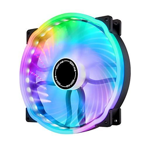 EZDIY-FAB 20cm Ventilador de la Carcasa de la Computadora RGB 800rpm,Cojinete Hidráulico 200mm 5V ARGB Fan-1 Pack