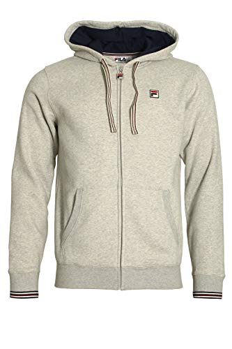 Fila Vintage Tenconi Zip Through Hoodie | Grey/Black