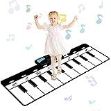 sanlinkee tappeto musicale bambini,110x36cm tappetino per pianoforte con 8 impostazioni di strumenti musicali multifunzionale giocattolo educativo perfetto natale regalo per bimbi ragazzi ragazze