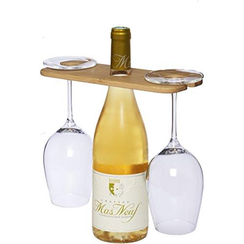 noTrash2003 Weinbutler - orginelle Geschenkidee für Weinliebhaber, perfekt für eine Weinflasche & 2 Weingläser