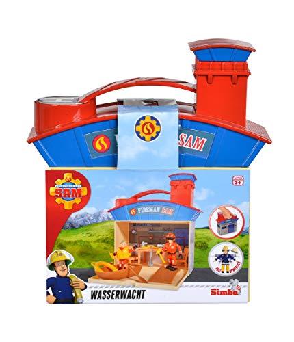 Simba 109251033 - Feuerwehrmann Sam Wasserrettungsset mit 2 Figuren / Zum Auflappen / 20cm