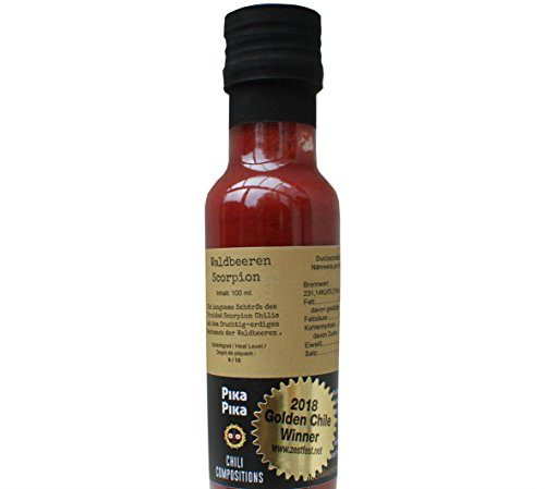 Frutto di bosco – Trinidad Scorpion (100 ml.) / Piccante Criminale - 9 di 10/ Me 10 / 1 posto Premio Golden Chile (Ultra-Hot) 2018, TX,USade in Germany con cuore venezuelano