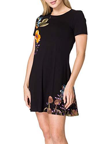 Desigual Vest_Las Vegas Vestido Casual, Negro, S para Mujer