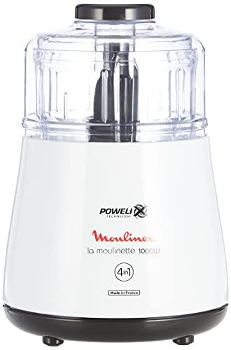 Moulinex DPA141 La Moulinette Tritatutto Elettrico, Adatto per Tutti i Tuoi Alimenti 1000 W, 0.3 l, Bianco