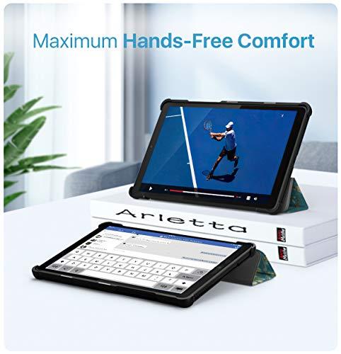 MoKo Hülle Kompatibel mit Lenovo Tab M8 HD TB-8505F/ Smart Tab M8 / Tab M8 FHD, Ultra Slim PU Leder Tasche Schutzhülle Standfunktion Kompatibel mit Lenovo Tab M8 (TB-8505F) Tablet - Aprikose Blume