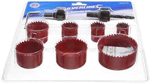 Silverline - 633479 - Ensemble de scies-cloches - 21 - 64 mm - Set de 10 pièces